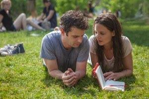Luke Kirby as Marco, and Katie Holmes as Carla. Photo courtesy of Roadside Attractions.
