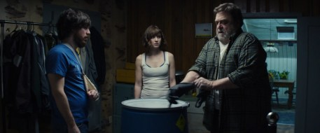 From Left to Right John Gallagher Jr., Mary Elizabeth Winstead & John Goodman in 10 Cloverfield Lane (photo courtesy of Paramount pictures)