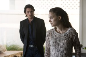 Christian Bale & Natalie Portman in KNIGHT OF CUPS. Courtesy of Broad Green Pictures.