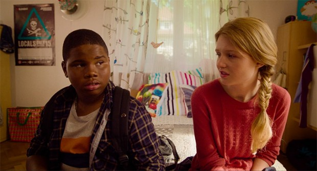 Markees Christmas and Lina Keller star in MORRIS FROM AMERICA. Photo courtesy of A24.