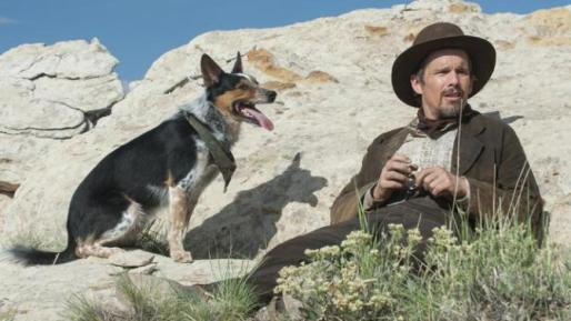 l-r Abbie (aka Jumpy) and Ethan Hawke (Photo courtesty of Focus World)