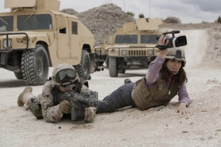 Kim Baker (Fey) on the path to becoming fearless in a firefight. (Photo courtesy of Paramount)