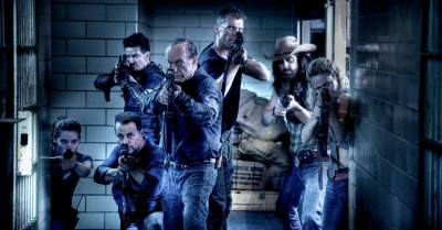 The cast of DAYLIGHT'S END, with Heather Kafka on the far right. Courtesy Photo.