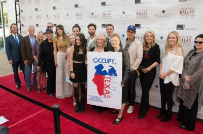 The cast and crew of OCCUPY, TEXAS at the film's premiere at the Dallas International Film Festival. Photo courtesy of the Dallas Film Society.