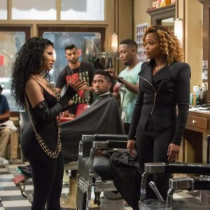 The cast of BARBERSHOP: THE NEXT CUT. Photo courtesy of Warner Bros/New Line Cinema/Chuck Zlotnick.