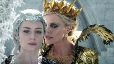 Emily Blunt and Charlize Theron play two rival queen sisters who duke it out in full FROZEN fashion. Photo courtesy of Universal Pictures.