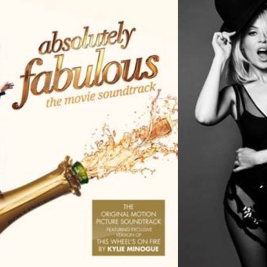 """Hear Kylie Minogue cover """"This Wheel's On Fire"""" off the 'ABSOLUTELY FABULOUS: THE MOVIE' Soundtrack"""