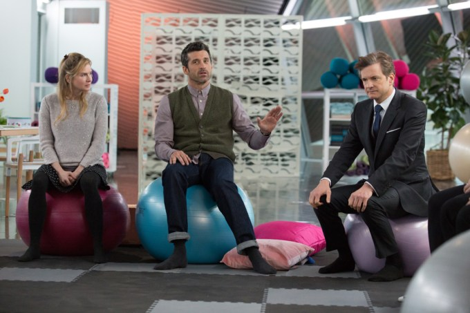 Renée Zellweger., Patrick Dempsey and Colin Firth in BRIDGET JONES'S BABY. Courtesy of Universal Pictures.