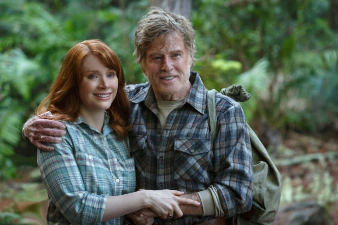 Bryce Dallas Howard is Grace and Robert Redford is Mr. Meacham in Disney's PETE'S DRAGON. Courtesy of Walt Disney Pictures.