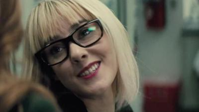 Jena Malone, cut from the theatrical version, plays Jenet Klyburn in the Ultimate Edition. Photo courtesy of Warner Bros.