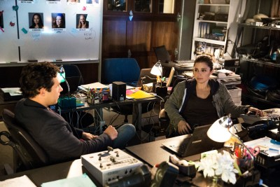 (L to R) Michael Rady and Shiri Appleby star in UnREAL, airing, tonight at 10pm ET/PT on Lifetime. Photo by James Dittiger.