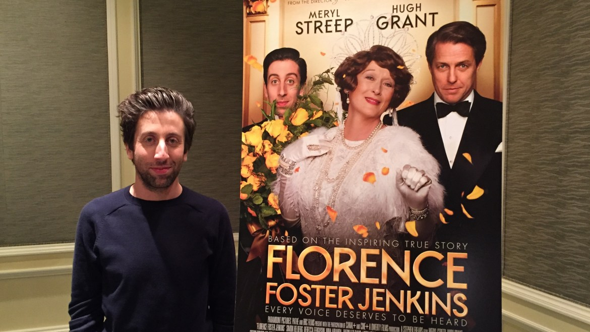 Video Interview: FLORENCE FOSTER JENKINS' Simon Helberg dishes about Meryl Streep, talks good-bad movies