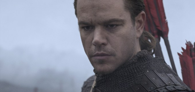 Matt Damon in THE GREAT WALL. Courtesy of Universal Pictures.