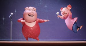 Reese Witherspoon and Nick Kroll in SING. Courtesy of Universal Pictures.