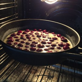 cherry-clafoutis-baking