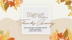 Signet Thanksgiving Dinner @ Fresh Fire Fellowship Hall | Lubbock | Texas | United States