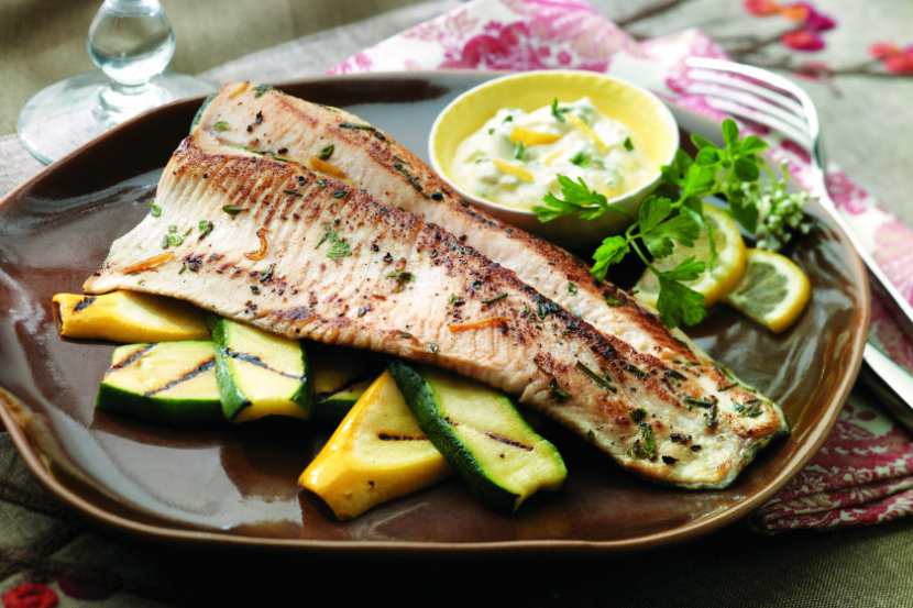 Herbed Trout with Lemon Aioli