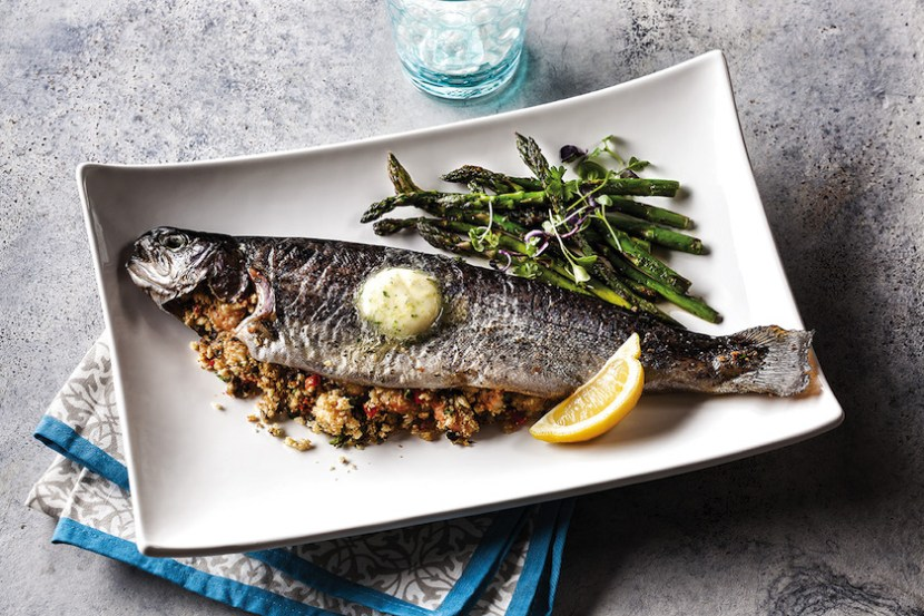 Seafood Stuffed Rainbow Trout