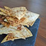 Cinnamon Sugar Healthy Tortilla Chips