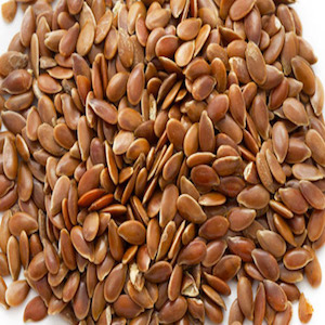 Brown Whole Flax Seed Feed Ingredient