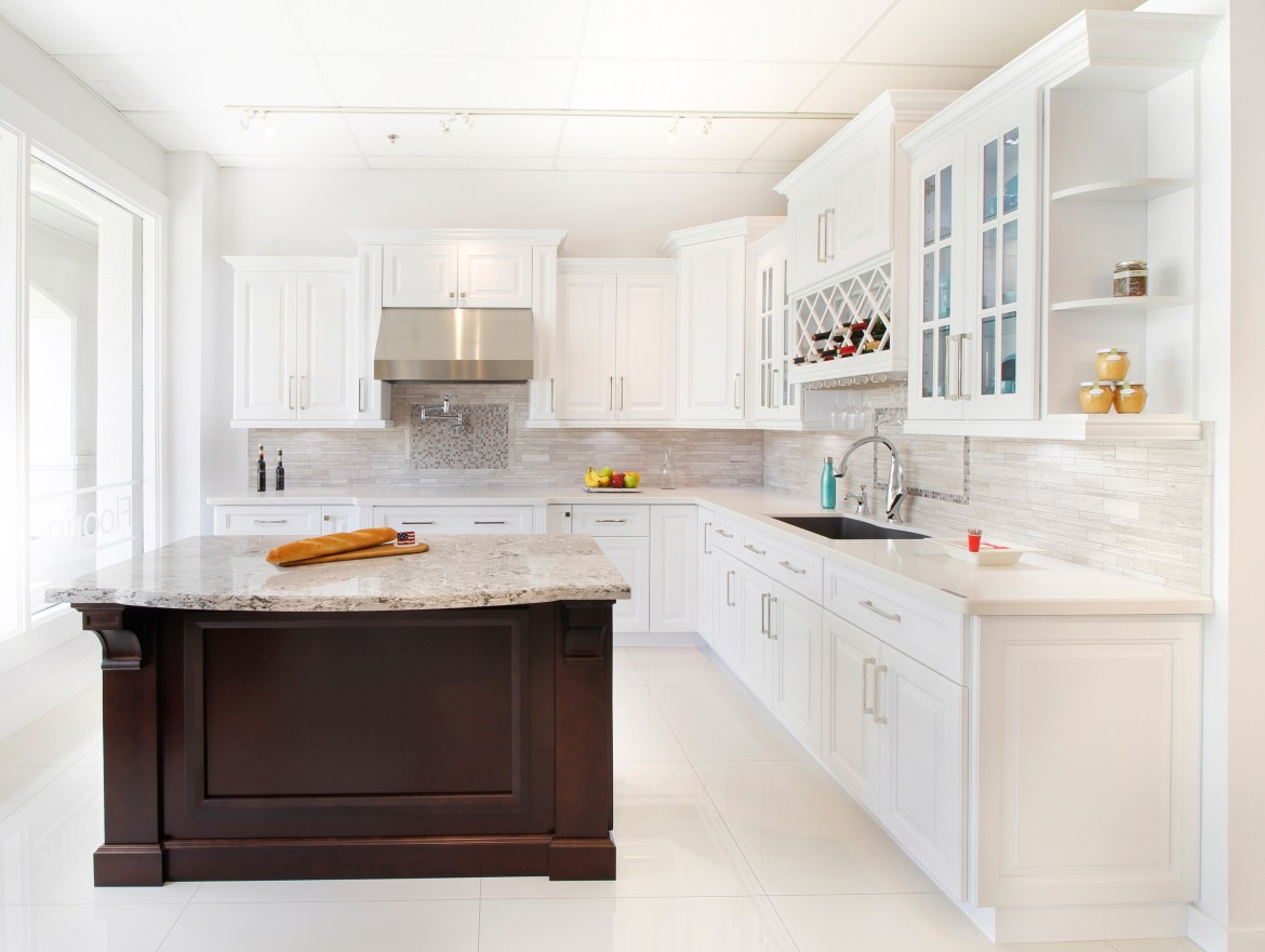 Serene White Kitchen