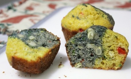 Mesa Grill's Blue and Yellow Corn Muffins.  Beautiful!