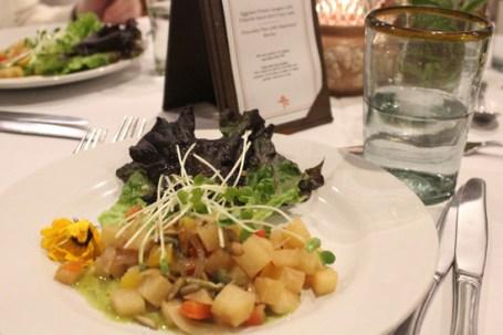 Warm Jicama Salad with Lemon Parsley Vinaigrette.