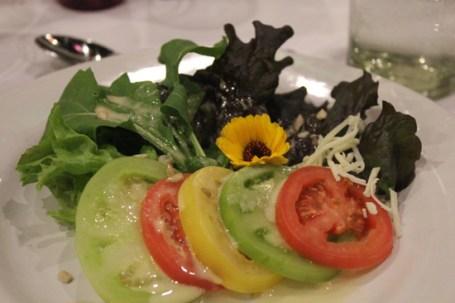Salad from The Rancho La Puerta Garden.