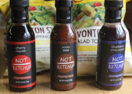 Not Ketchup Dipping Sauces - Cherry Chipotle, Smoky Date and Blueberry White Pepper.