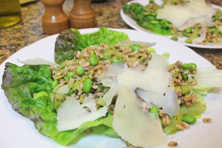 Italian Farro and Fava or Soybean Salad