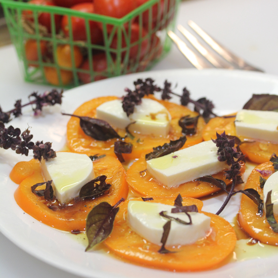 Yellow Caprese Salad is a natural work of art. Get recipe at Fresh Food in a Flash.