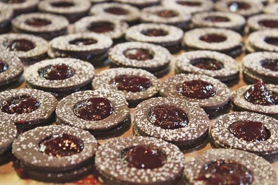 Cocoa Linzer Cookies