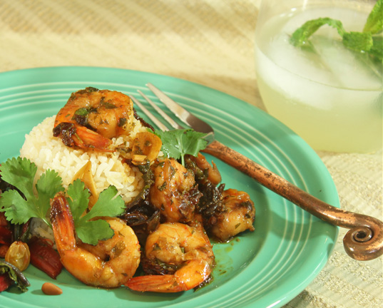 Shrimp with Ancho Chiles and Garlic