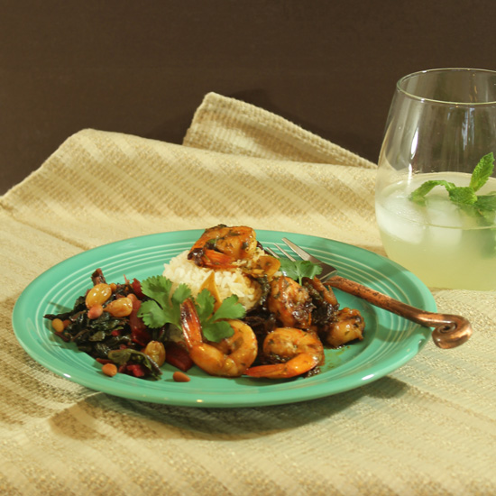 The Sautéed Shrimp with Ancho Chiles and Garlic is delicious! Try it at the Border Grill and at home.
