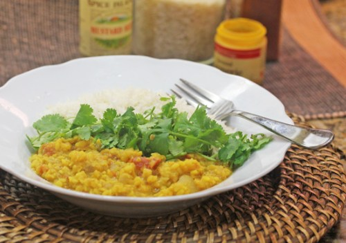 Indian Tarka Dal, a spicy lentil stew.