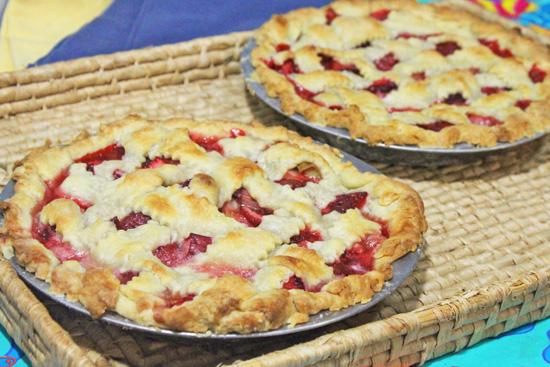 Strawberry Rhubarb Lattice Pie from Fresh Food in a Flash.