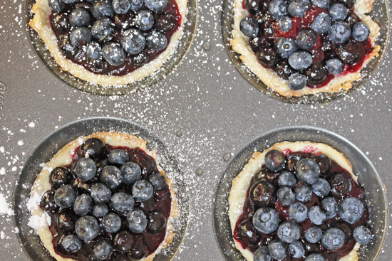 Mini Blueberry Pies from FreshFoodinaFlash.com.