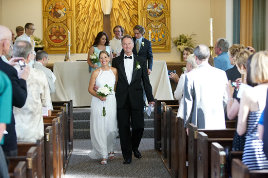 Patricia K. Rose and Chris Woodyard got married at Holy Nativity Episcopal Church. Photo by Jefferson Graham.