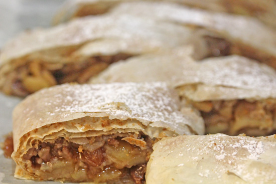 Apple Strudel is an old world dessert from Germany with roots in Turkey.