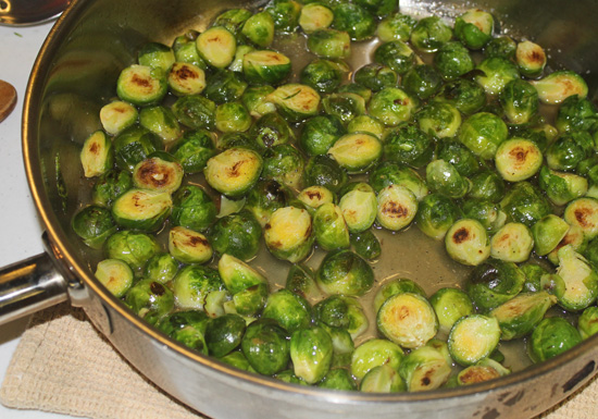 Braised Brussels Sprouts recipe from FreshFoodinaFlash.com