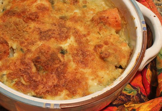 Yam and Swiss Chard Gratin recipe from FreshFoodinaFlash.com