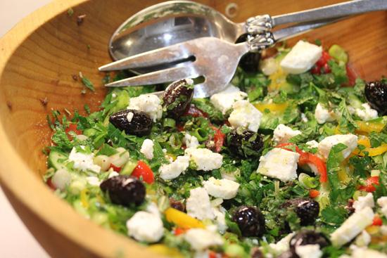 Authentic Greek Salad recipe at FreshFoodinaFlash.com