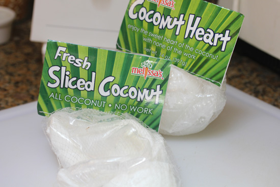 Fresh Coconut from Melissa's Produce featured on FreshFoodinaFlash.com