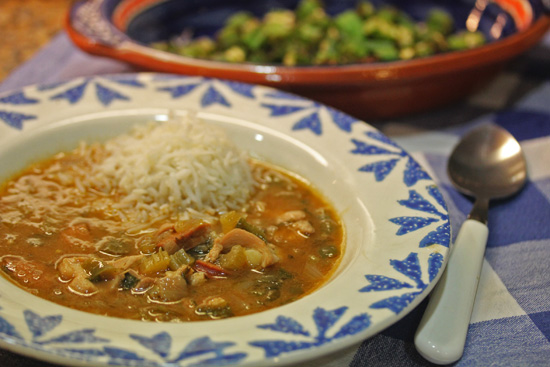 Chicken and Sausage Gumbo, Cajun Style recipe at FreshFoodinaFlash.com