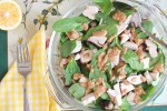 Grilled Chicken and Spinach Salad with Almond Butter Dressing
