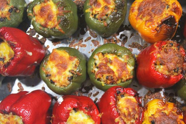 Mamacita's Vegetarian Stuffed Peppers recipe at FreshFoodinaFlash.com
