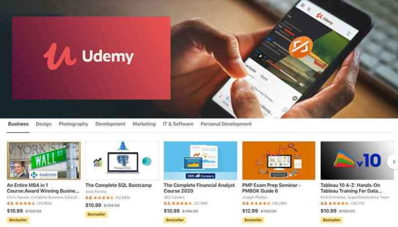 Udemy top free courses to do online from top instructors you can start online using just your internet