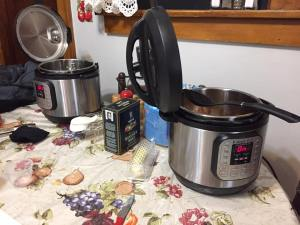 Just a few of the Instant Pots used for our Zuppa Toscana cook-off!