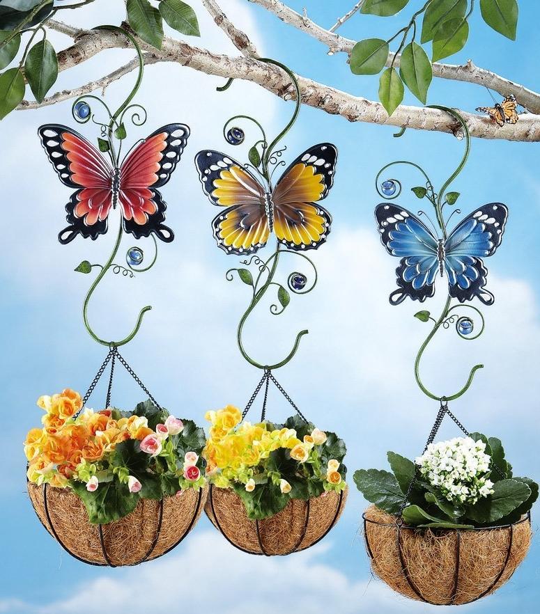 Outdoor Butterfly Plant Hanger Hooks  Fresh Garden Decor
