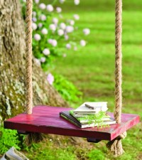 Rope Tree Swing with Wooden Seat   Fresh Garden Decor